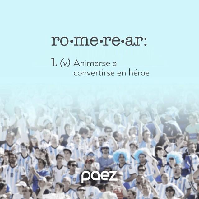 Los viernes son un clásico para #romerear!! #VamosArgentina #paezmundial