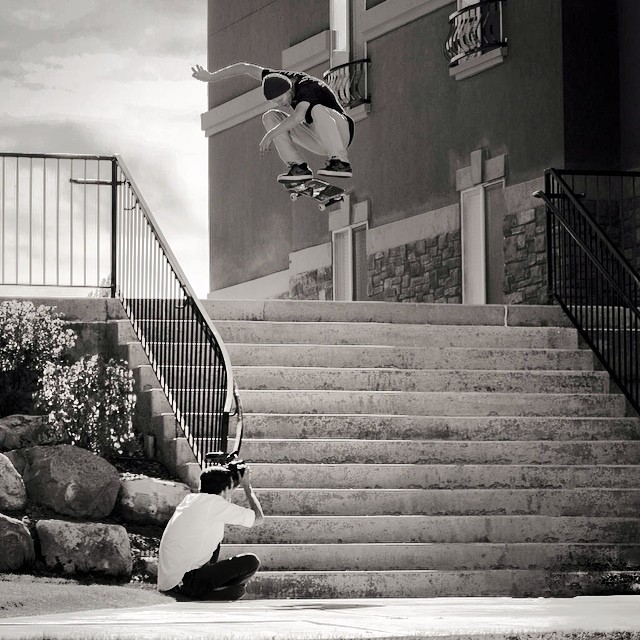 It's Friday, go big like this huge #12stair #kickflip shot of #gabespotts taken by #taylorallen in #issue31 #steezmagazine #skateboarding