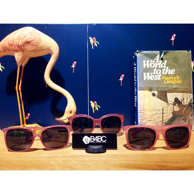 Sneak peek! We're at @agendashow scoping out the new crop of @vonzipper x #B4BC collab shades, benefiting our breast cancer education, prevention and support programs...and they are RAD!