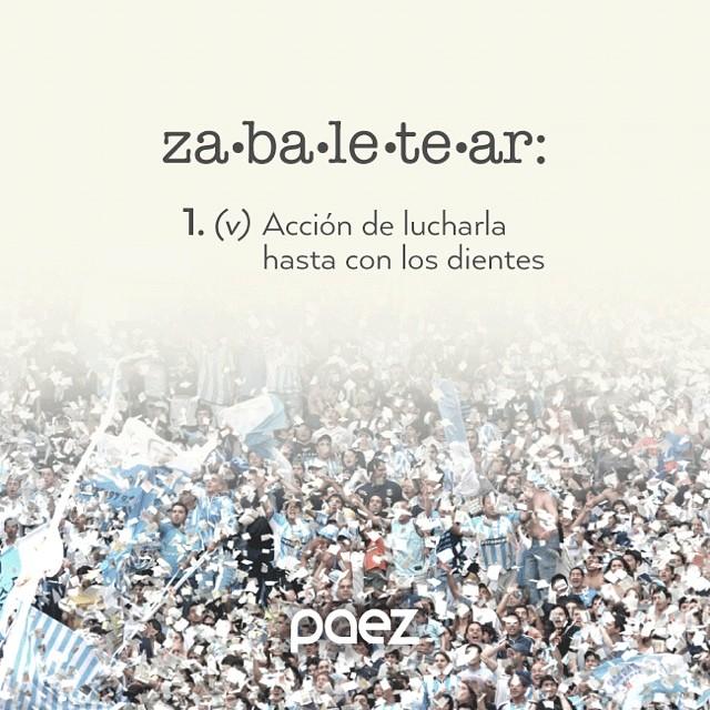 Estamos listos, estamos para #zabaletear este domingo! #paezmundial #vamosargentina