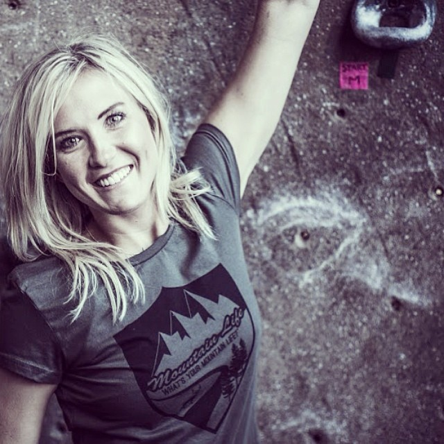 "Featuring our #ArmyGreen Fitted Ladies T-shirt with our new badge decal, available at: GoodPeople.com/theMountainLife ""What's Your #MountainLife?"" #adventure #bmx #biking #bouldering #backcountry #basejumping #climbing #camping #cycling #dirtbarbie..."