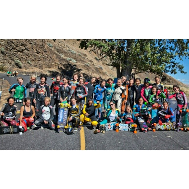 All the rad ladies of this years festival of speed at Maryhill! So many lady shredders! #longboardgirlscrew #girlsthatshred