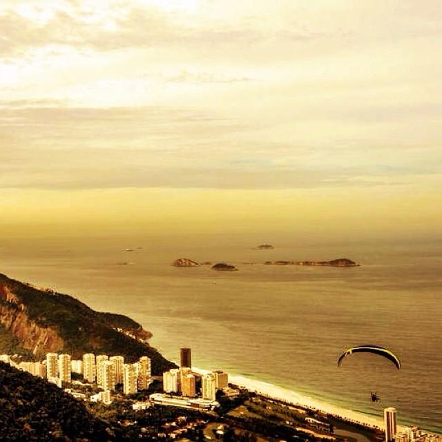 Hang tight, #Brasil. #justforkicks #rio #hanggliding
