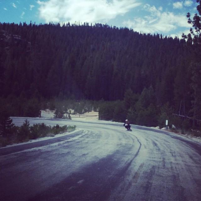 Team rider Adrian Da Kine--@adrian_da_kine enters the Bonz zone floating and feathering his skateboard in the Sierra's.  #adriandakine #bonzing #california