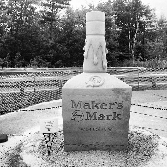 Live free or die sand sculpture. #makersmark #newhampshire #sandsculpturesforlife