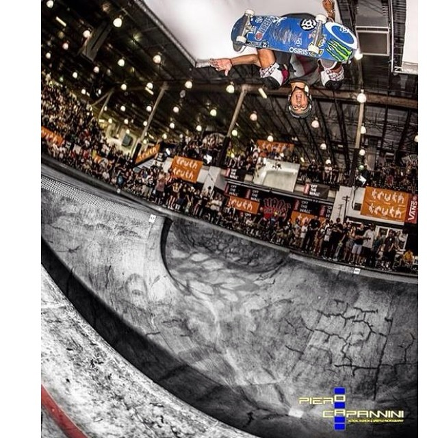 @austin_poynter #backsideollie at the #vanspoolparty . Austin wears the S1 Lifer Helmet. The Lifer #helmet is 5x more protective than a regular #skatehelmet . #austinpoynter #skateboarding