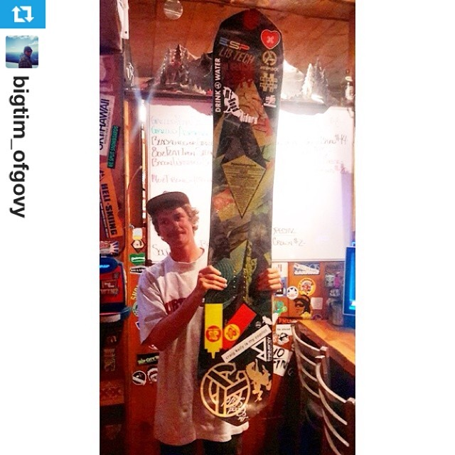 #Repost from @bigtim_ofgovy with @repostapp --- And now the #passitonproject #snowboard goes to another lucky one- @mountainsinthebackyard. Thanks @bundyvision for passing to me! Also thanks to @travisrice @libtechnologies @asymbol  for giving me this...