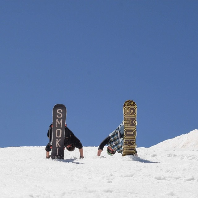 @camocody and @juicy__g__ playing in the snow @woodwardcopper #forridersbyriders #handmadelaketahoe #OK