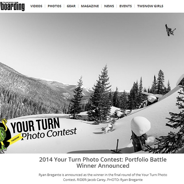 Super stoked for our buddy @bregantephoto for winning the @twsnow #YourTurnPhotoContest  Grand Prize! Yeeah Buddy! He's headed to #MTHood @highcascade for a week so check out his profile for some awesome #photography #winnerwinnerchickendinner...