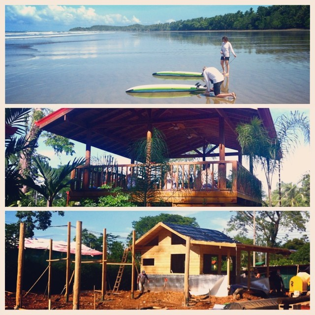 A busy morning today for Bodhi Surf School: #surf lessons, #yoga classes, and construction in full swing.