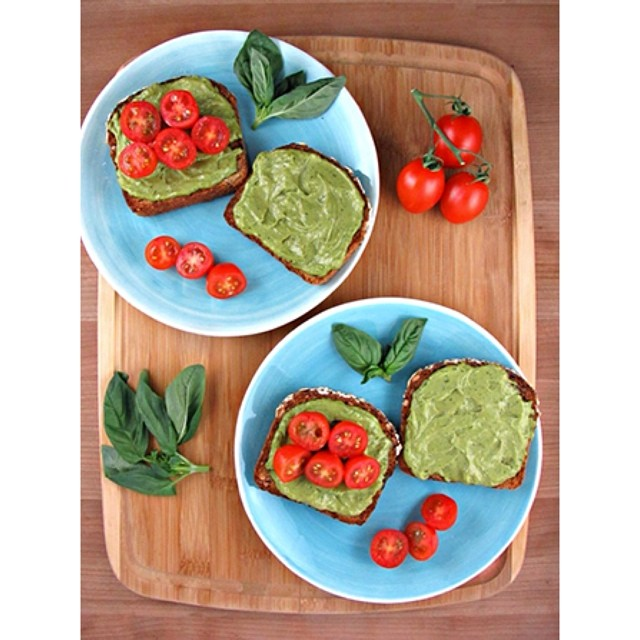 TASTY TUESDAYS // Avocado Pesto Toast Avocado & pesto came together to make the most delicious spread on earth and we LOVE it! This recipe makes it super quick & easy to enjoy avo on the go. Spread on your toast in the morning and top this...