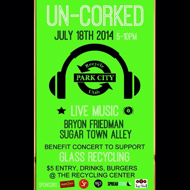 Don't miss #ParkCity's event of the summer this #Friday, July 18th at @recycleutah's #Uncorked!  Doors open at 5 PM entry is $5.  All proceeds will go to support glass recycling here in Summit County!  #SoulPoles founder, @bryonfriedman, will be...