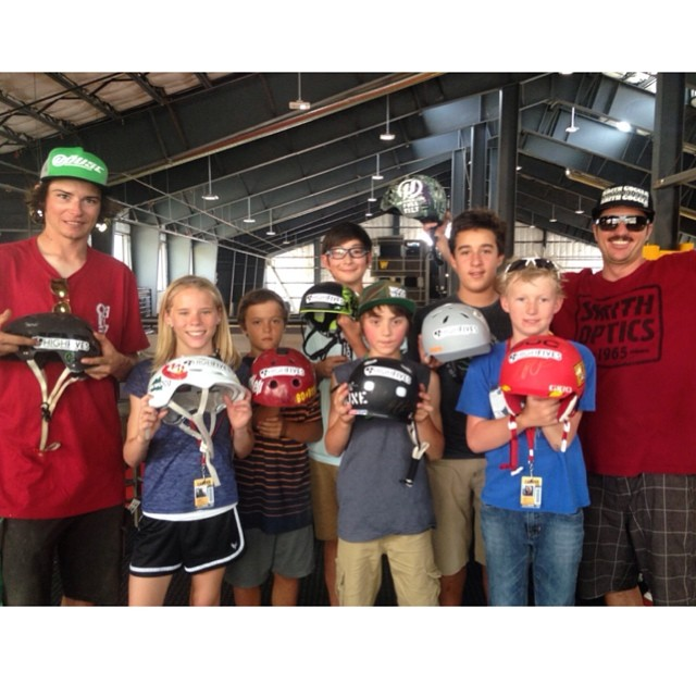 Awesome day at @woodwardtahoe Week 5 with a #HelmetsAreCool Helmet Decorating Contest with Guest Coach @funkygrussell ||