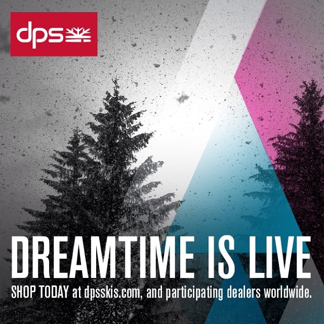 #dpsdreamtime is now live on dpsskis.com and at participating dealers worldwide. Shop all 14/15 DPS skis at the year's only discount, secure rare Special Edition art #skis, buy limited-run #Powderworks creations, and take advantage of special offers...