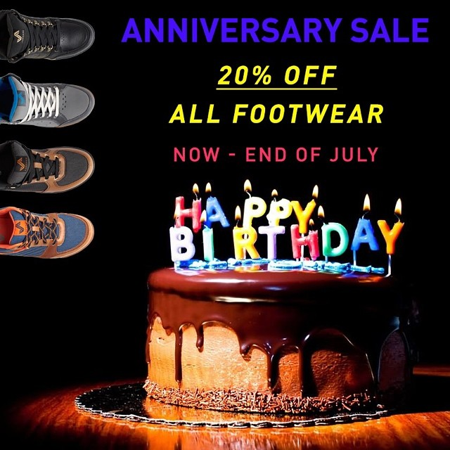It's Forsake's first anniversary of shipping sneakerboots! To celebrate, we are taking 20% off all our kicks through the end of July at shop.forsake.com