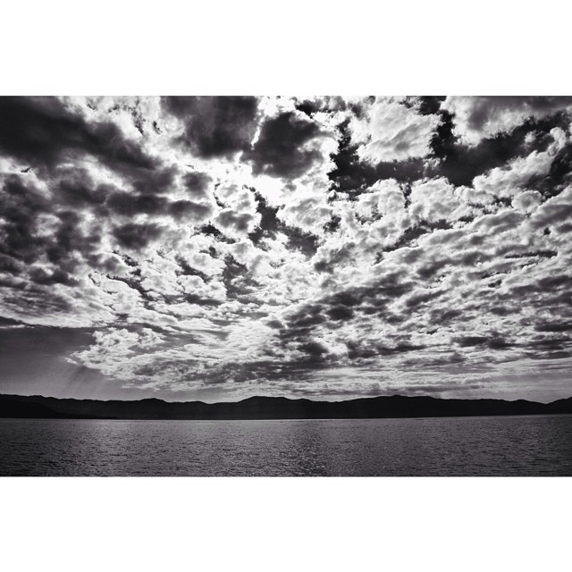 Moody morning clouds over the lake // #tahoemade #thisistahoe