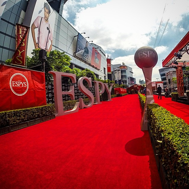 ESPY day here in LA! Catch all the action tonight on @espn #espys