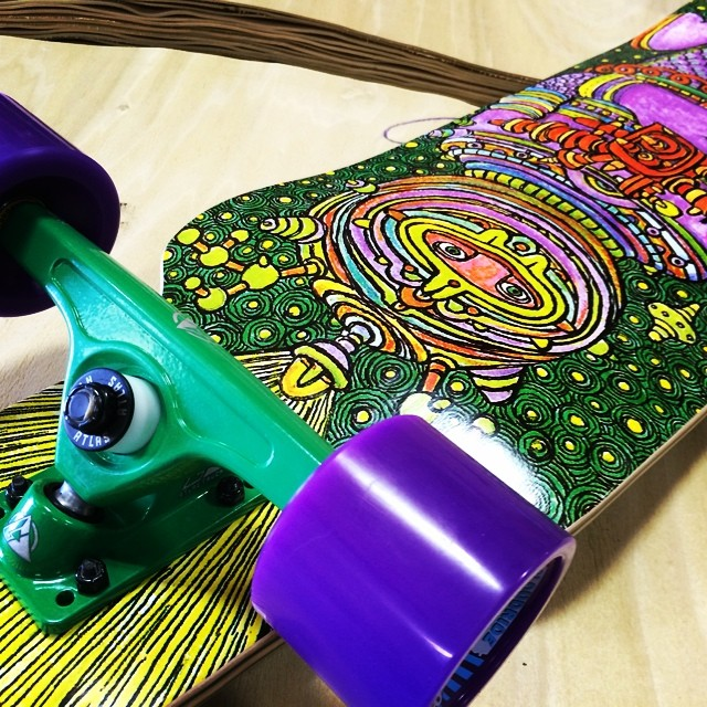 Color coordinated all day #dblongboards #cosmonaut #atlastruckco #colors #art #longboarding