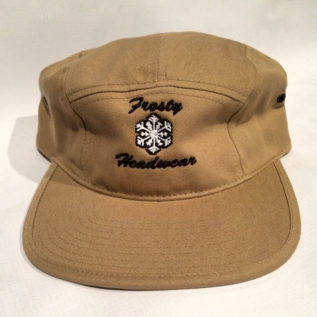 Tan 5 panel back on sale through www.frostyheadwear.com #frostyheadwear #5panels #fivepanels #5panel #fivepanel