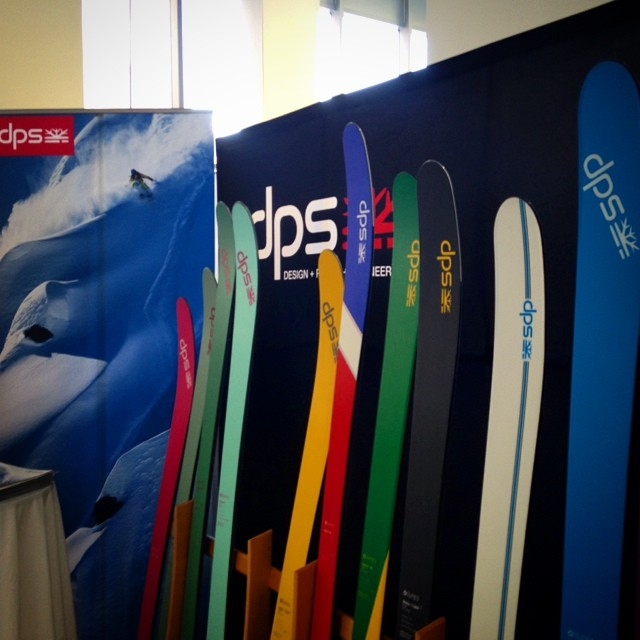 Global domination at #dpsskis. Showing off the 14/15 line at the #siasnowdown with @siasnowsports, while #dpsdreamtime kicked off at dealers and online at dpsskis.com.