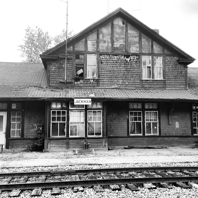 Stumbled on this old train depot #jackman #maine #jackmanme #traindepot