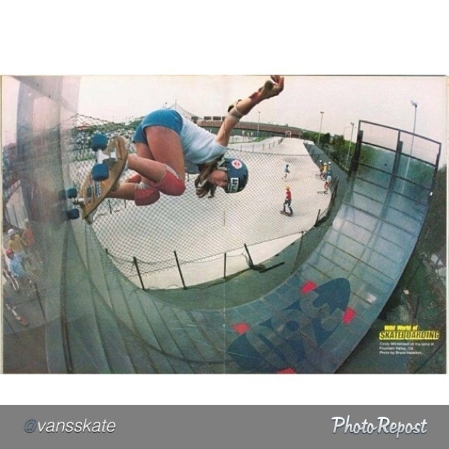 Had to repost this #throwback. Cindy Whitehead (@sportsstylist) kickin' some plexiglass with no flat, no decks and no room for error. #skateboarding #skateboard #skate #skatelife #tbt #throwbackthursday