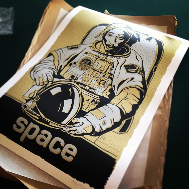 Stoked to get my space wEEnpac print in the mail today @madsteez @1xrun #weenpacinspace #madsteez #finefarts