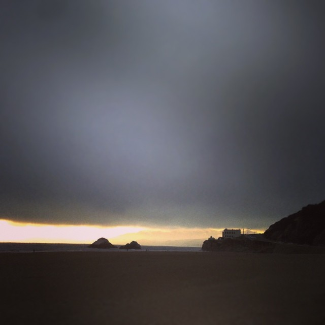 End of the day. #ocean #beach , #sf