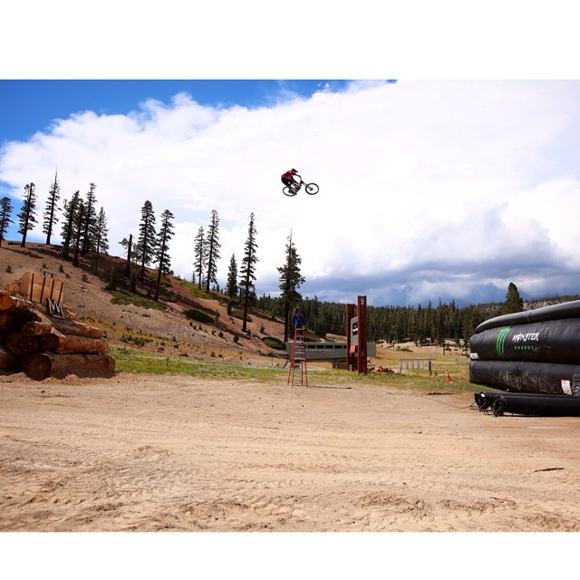 @CamZink testing the distance for his world record attempt on August 21 on @espn . Check all the details at XGames.com. @MammothMountain @MonsterEnergy  Photo @petermorning