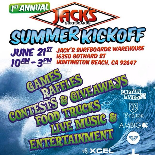 Summer Kickoff event over at Jacks HQ next weekend!! Lots of free stuff and great brands! See ya there! #ambigclothing #summerkickoff #jacks