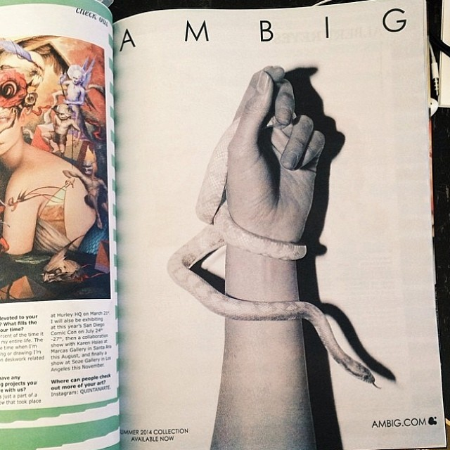 Check out our latest ad in @blisssmag ! Photo courtesy of @neil_favila #ambiglothing #snakestee