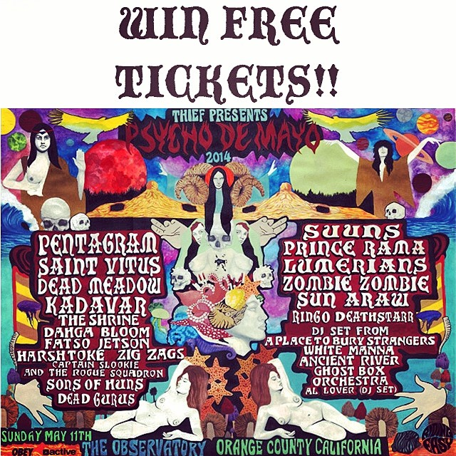 Anyone want free tickets to the next PSYCHO DE MAYO festival next weekend??!! Just go to ambig.com and enter your name and email address... We'll pick a winner next week! @thiefpresents #psychodemayo