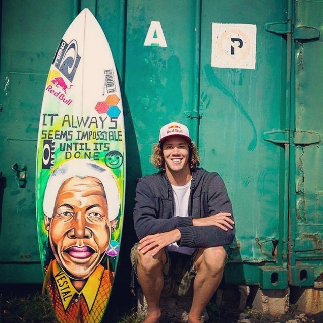 """It always seems impossible until it's done"" @jordysmith88 #MandelaDay2014 #surf #legend #leader #change"