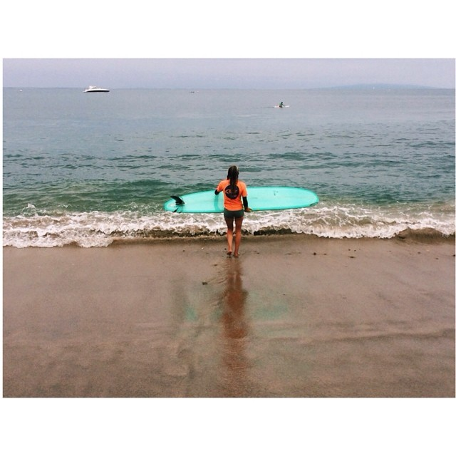 Team rider @kayruh_walrus about to paddle out for her heat at the Malibu #calltothewall contest. Let's wish her luck! Atta girl!!! #surf #contest #Malibu #teamrider #stoked #surfing #waves #ocean #nature #beautiful #ladyslide #girlswhorip