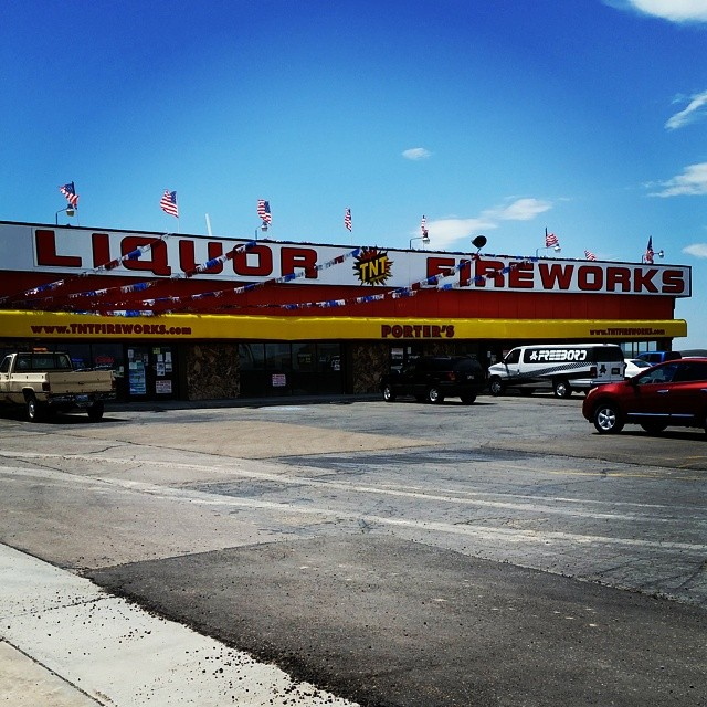 Quick stop in Wyoming for some liquor and fireworks!