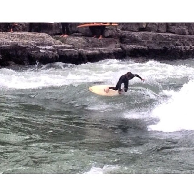 Crew member Blaine shredding some river waves! @blzablaine #disidual #surf #shred #exploretheoutdoors #adventure