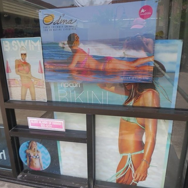 "I was passing a surf shop today and I was like ""Hey, why did they put a poster of that girl right over @alanarblanchard and then I was like ""wait a minute, that's me!"" #honored #odd Alana is amazing!"
