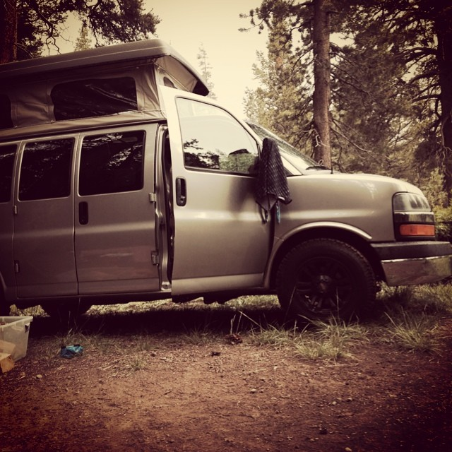 more camping and Mtn biking this weekend. Cheers to #vanlife and thanks to sportsmobile.com for the sweet camper top.