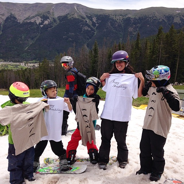 Happy Mustache Monday! Stoking out some kids at @woodwardcopper // #stzlife #snowboard #summershred #woodward #woodwardcopper #mustachemonday