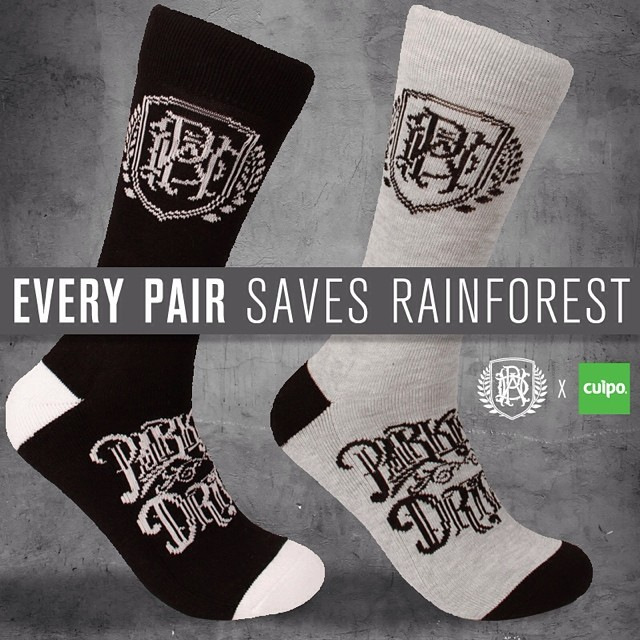 Parkway drive socks just landed today!!! Cuipo.org/parkwaydrive for black  and cuipo.org/parkwaydrivegrey for grey