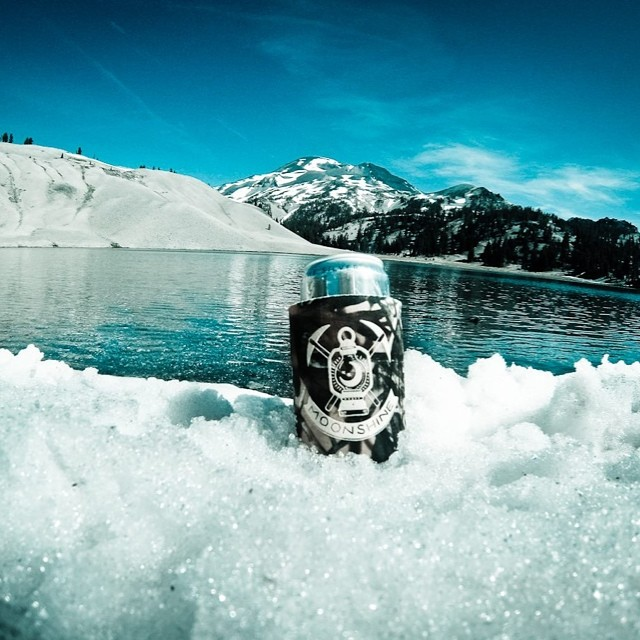 Nothing's better than sippin' a cold beer with a great view. Who doesn't love the mountains? #firewaterfriends #outdoors #mountains