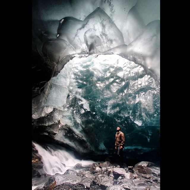 "#mountainman #monday @adamsburgers at #Mendenall ice caves in #Alaska""what's your #mountainlife?"" #bmx #boarding #bouldering #backcountry #camping #cycling #climbing #exploremore #flyfishing #hiking #kayaking #mountainbiking #mountaineering #roadbiking..."