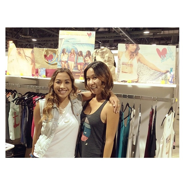 Ashley and Nicole holdin it in down in the Luv Surf booth! #agendashow #agendawmns