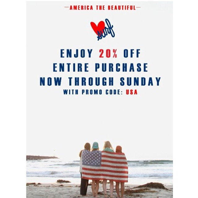 Happy Birthday America! Enjoy 20% off now through Sunday! #america #4thofjuly #wearthecalidream  #luvsurfapparel #spreadtheluv