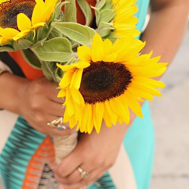 More photos to come from our summer solstice party at the @luvsurfshop! @katherinebethphotography #sunmersolstice #summerishere #sunflowers #summerdress