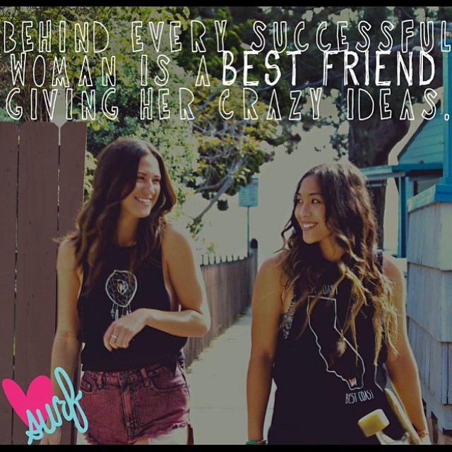 Tag your bestie who you love creating crazy memories with! #besties #bffs #luvsurfapparel