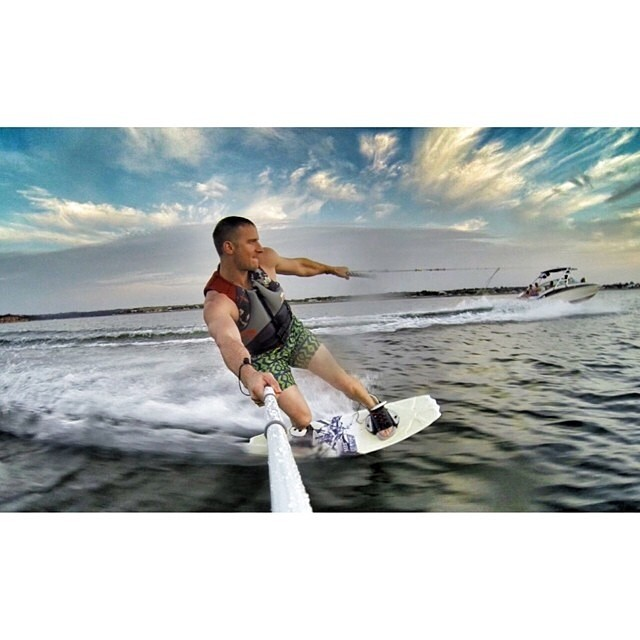 You don't have to go to the ocean to live the #lifesabeach mentality! Sweet pic by @sparkfunk #kameleonz #wakeboarding