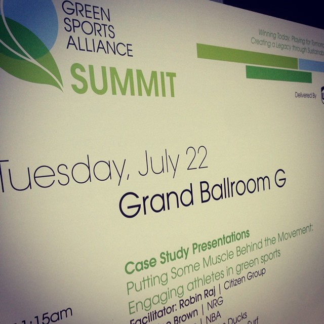 Sustainable Surf's own Kevin Whilden knocked his presentation  out of the park this morning at the Green Sports Alliance Summit.  We've now put pro surfing on the same platform as the major league sports like the NFL, NBA, NHL.  The response to our...