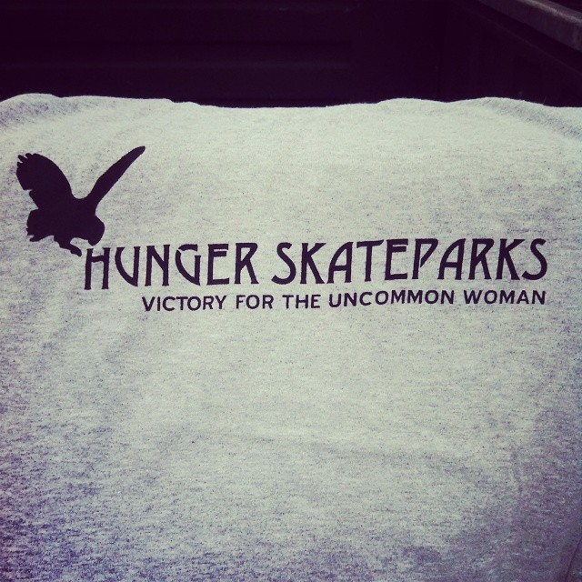 #hungerskateparks Midwest style. Thanks for the shirt!
