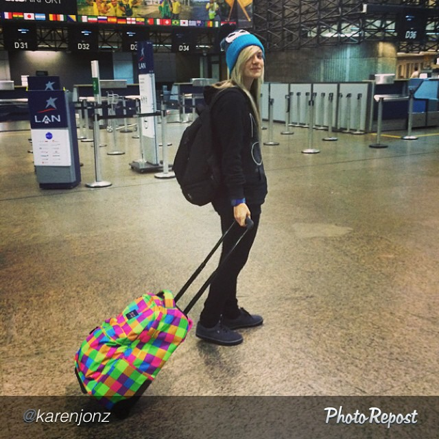 Repost from @karenjonz, on her way to #California for the Van Doren Invitational next week.
